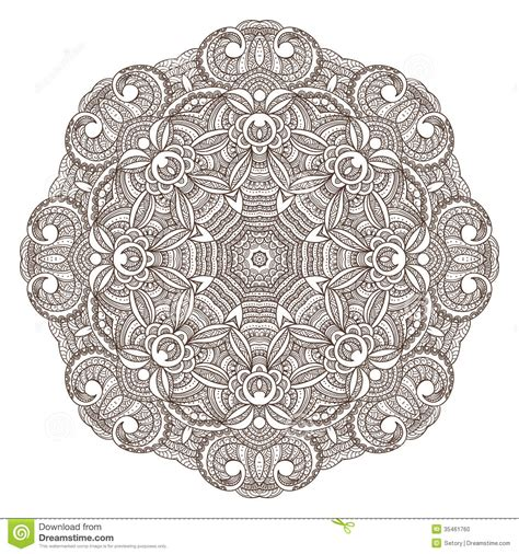 pattern engineering ornamental round lace pattern stock vector image 35461760