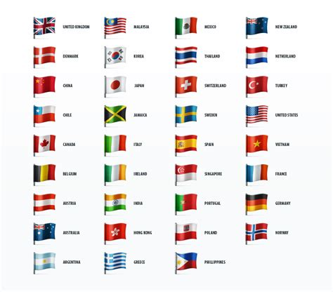 country flags country flags icon set icons on creative market