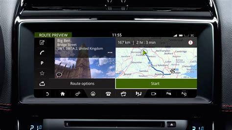 jaguar xe 2017 incontrol touch navigation entering a