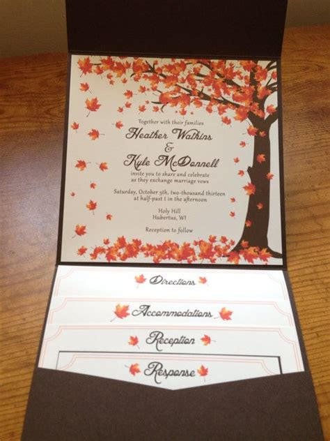 Fall Theme Wedding Invitations by Best 25 Fall Wedding Invitations Ideas Only On