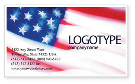 american flag and gun business card template flag of the united states of america business card