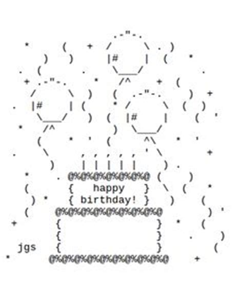 happy birthday wishes text design 1000 images about key board art on pinterest ascii art