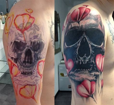 skull cover up tattoo coverup design ideas from tailors