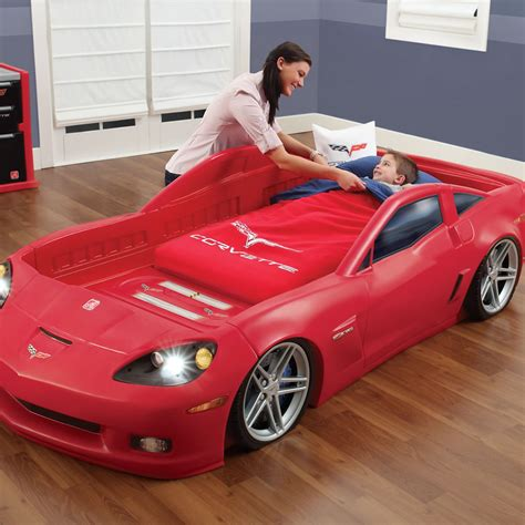 car bed corvette toddler to bed with lights bed step2