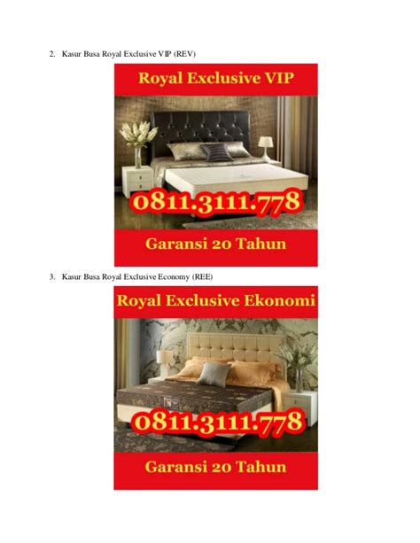 Kasur Busa Royal Single 0811 311 1105 jual kasur busa royal exclusive surabaya