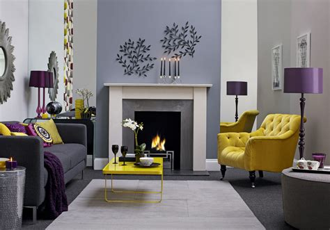 purple and grey living room how to choose the right colours for interior design