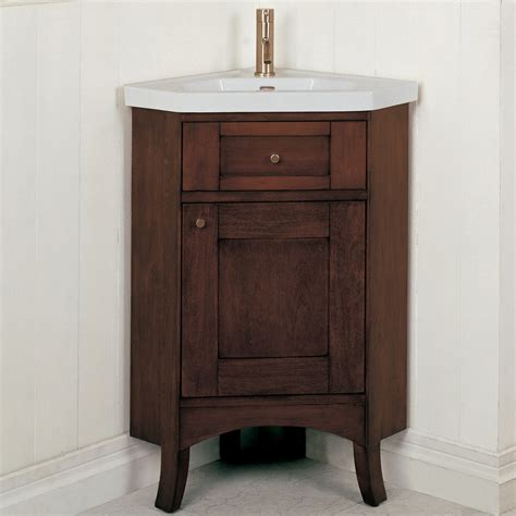 Corner Vanities Bathroom Fairmont Designs 26 Quot Lifestyle Collection Shaker Corner Vanity Combo Cherry Free