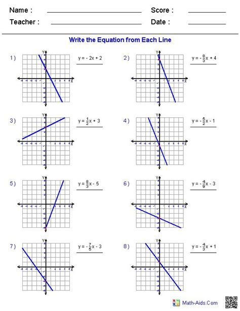 Slope From A Graph Worksheet by Slope Intercept Form Worksheets Kuta Graphing Lines In