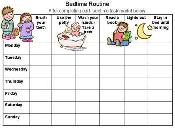 printable toddler bedtime routine chart bedtime routine chart