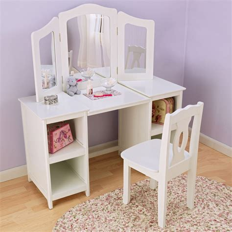 Vanity Children by Kidkraft Deluxe Vanity Chair 13018 Bedroom Vanities At Hayneedle