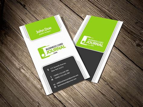 modern business card template vertical 55 free creative business card templates designmaz