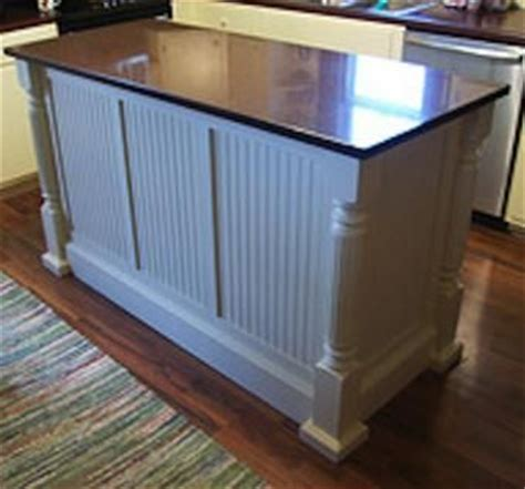 kitchen island panels handmade custom kitchen island with beaded panels by