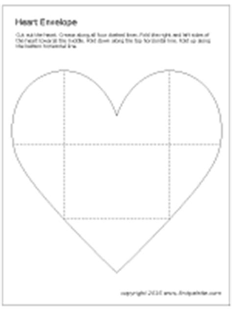 printable heart envelope template heart envelope printable templates coloring pages