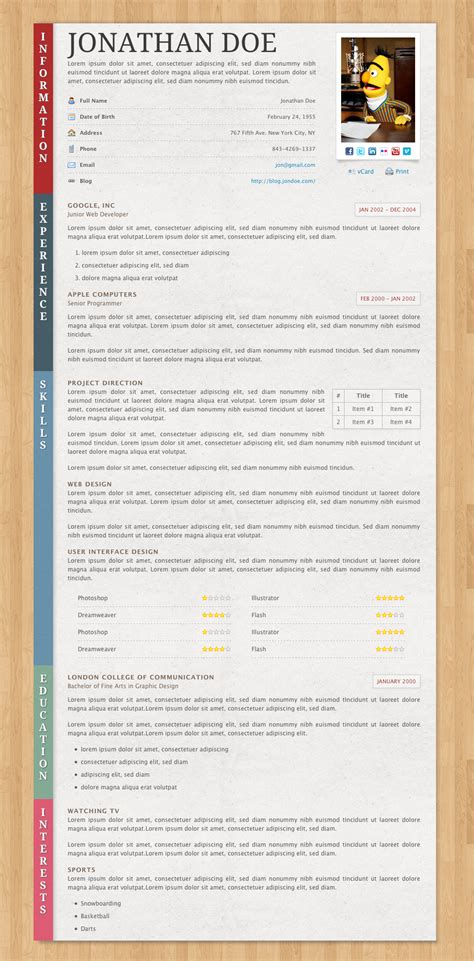 cvs resume paper paper resume cv by norbiu themeforest