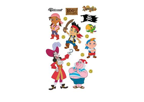 jake and the neverland wall stickers disney jake and the neverland collection wall decal shop fathead 174 for jake and the