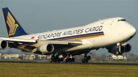 singapore airlines cargo boeing 747 400f landing amsterdam airport schiphol