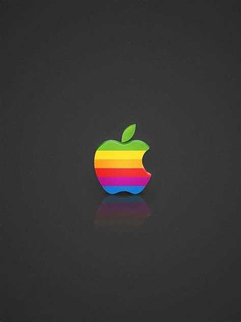 wallpaper apple rainbow rainbow apple logo ipad mini wallpapers