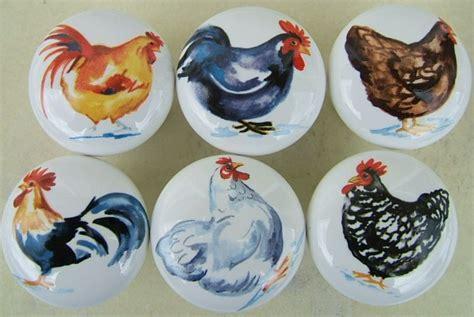Chicken Cabinet Knobs by Cabinet Knobs Watercolor Chickens Rooster Chicken 6