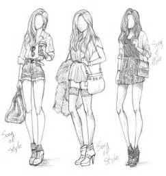 Pics Photos  Drawing Fashion Girl Hair Hipster sketch template