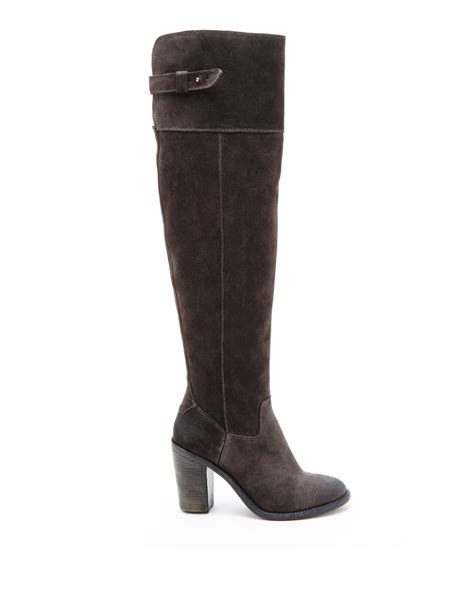 knee boots dolce vita okana suede the knee boots in gray