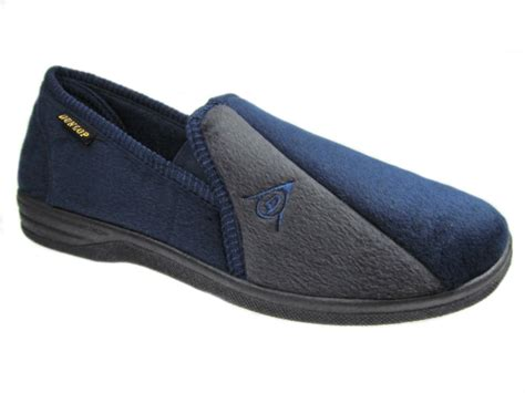 size 16 mens slippers dunlop mens slippers navy grey size uk 6 13 new ebay