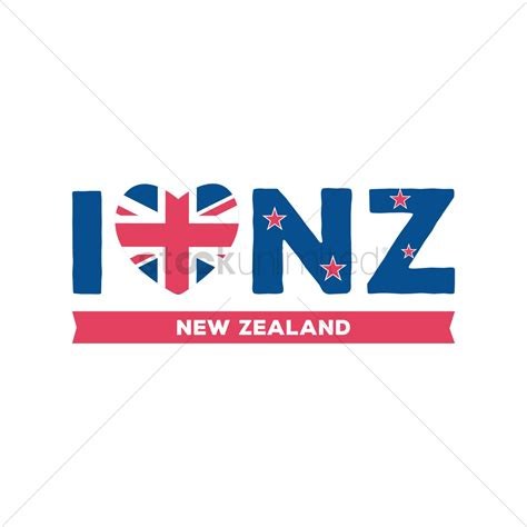 graphics design nz i love new zealand design vector image 2015269
