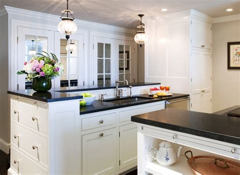 white kitchen cabinets black granite countertops honed black granite countertops design ideas