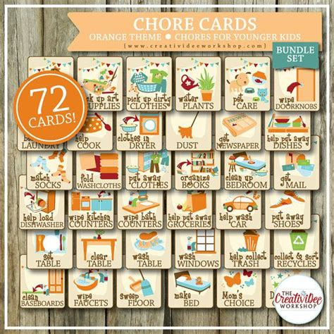 printable chore card template 25 best ideas about chore cards on printable