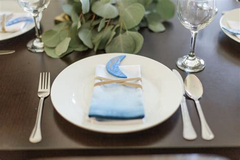 Baby Shower Place Setting Ideas by Kara S Ideas Quot You To The Moon Quot Rustic Baby