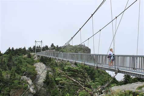 swinging bridge nc bridgehunter com mile high swinging bridge