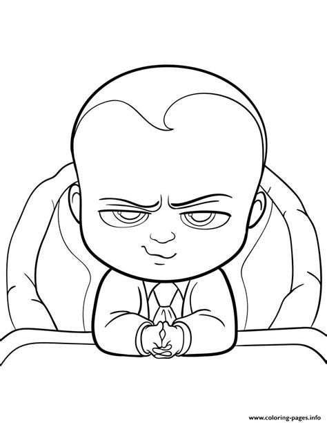 boss baby movie fun coloring pages printable