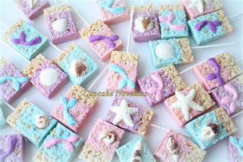 Whimsical Home Decor Ideas mermaids tails and seashells chocolate dipped rice krispy