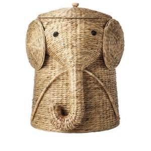 home decorators collection 20 5 in w animal laundry rattan elephant hamper laundry hampers bath