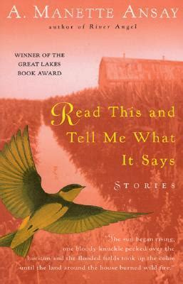 tell me what you want books read this and tell me what it says stories by a manette