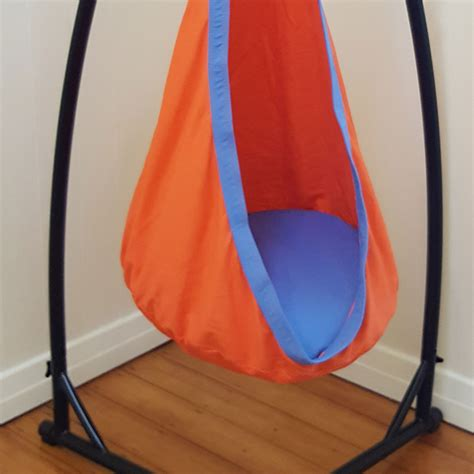sensory swing with stand orange and blue cotton sensory swing with stand heavenly