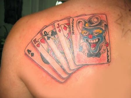 joker playing card tattoo designs joker card designs