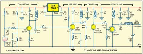 three transistor fm transmitter fm transmitter circuits best of