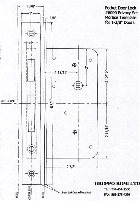 Mortise Lock Template Templates Collections Accurate Mortise Lock Templates