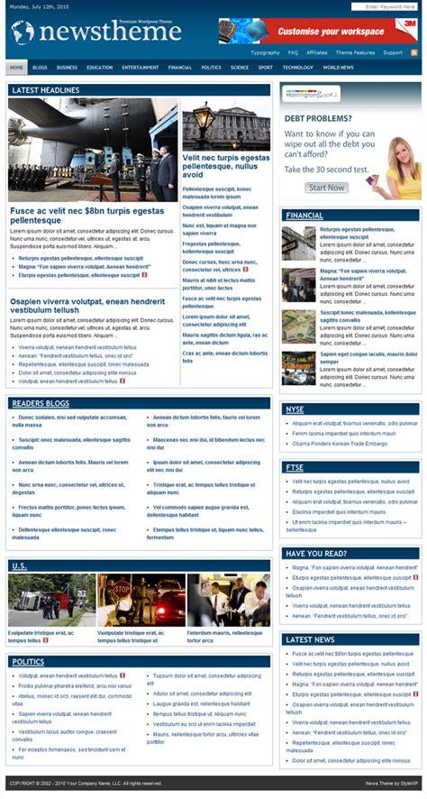 newspaper theme word 2010 best wordpress magazine themes to impress your visitors