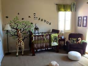 Jungle Baby Room Ideas Safari Nursery Modern Giraffe Theme Boys Room Green And