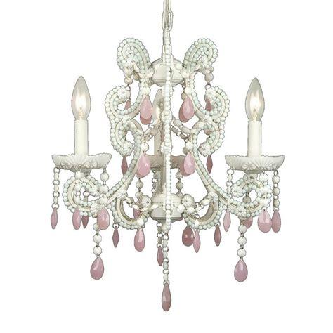 Light Pink Chandelier Filament Design Xavier 3 Light Pink Chandelier Cli Biet01wpnk The Home Depot