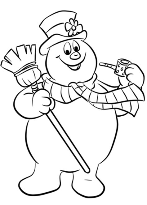 christmas coloring pages frosty snowman frosty the snowman coloring page free printable coloring