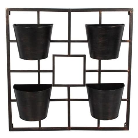 Vertical Garden Planters Home Depot 24 In X 24 In Vertical Metal Planter Grid Ds 21471 The