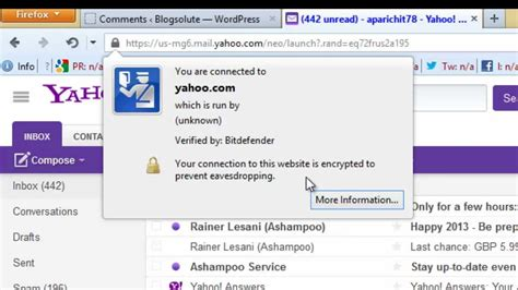 yahoo email unavailable enable ssl https encryption on yahoo email account youtube