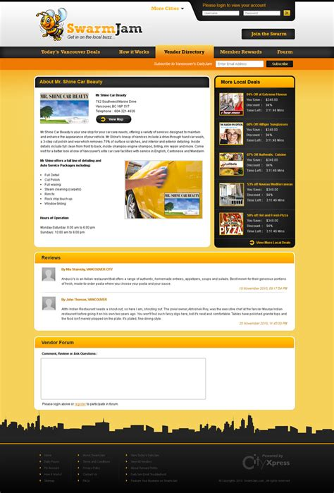 sign up page design brightlocal web page design contests 187 swarmjam com website facelift