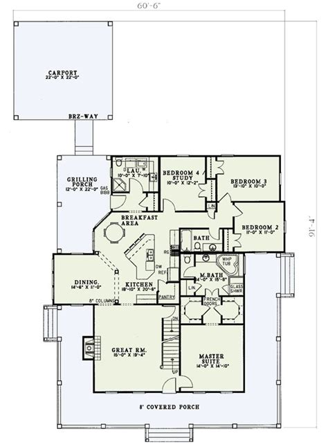 House With Wrap Around Porch Floor Plan by Floor 1 Wrap Around Porch W5921nd Architectural Designs