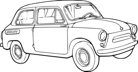 Adinata Coloring Book Cars L car outline clip at clker vector clip