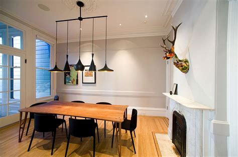 Dining Room Lighting Black How To Use Black To Create A Stunning Refined Dining Room