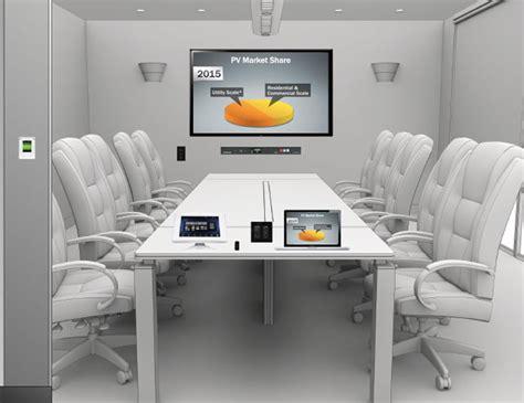 tech room and board inside the hi tech modern boardroom home