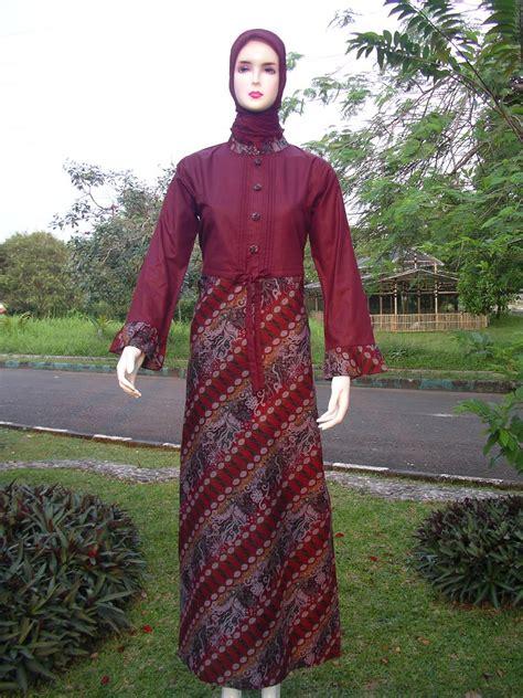 Butik Gamis Batik model baju gamis batik kombinasi terbaru butik batik dan